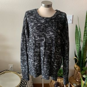 NWOT black and white knit sweater